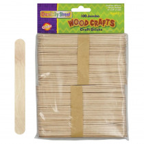 CK-367601 - Jumbo Craft Sticks 6 X 3/4 100/Pk Natural in Craft Sticks