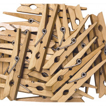 CK-368301 - Large Spring Clothespins Natural in Clothes Pins