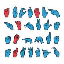 CK-4448 - Wonderfoam Magnetic Sign Language Letters in Foam