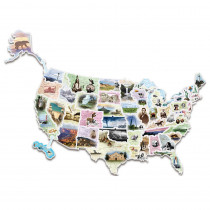 CK-4475 - Wonderfoam Giant Usa Photo Puzzle Map in Foam