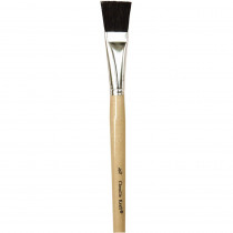 CK-5937 - Black Bristle Easel Brush 6-Set 3/4 W X 1 3/8 L in Paint Brushes