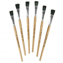 CK-5941 - Stubby Easel Brushes 1/2 Wide 6-Set 1 Set Of 6 in Paint Brushes
