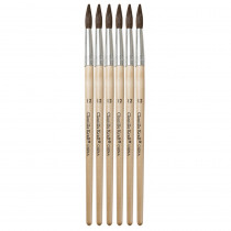CK-5951 - Tapered Water Color Brush 6-Set 1 1/8 Long Size 12 in Paint Brushes