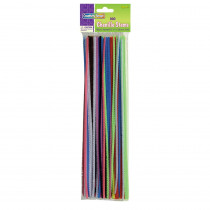 CK-711201 - Chenille Stems Assorted 12 Stems in Chenille Stems