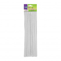 CK-71122 - Chenille Stems White 12 Inch in Chenille Stems