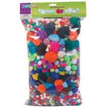 CK-818001 - Pom Pons Assorted 1 Lb. Bag in Craft Puffs