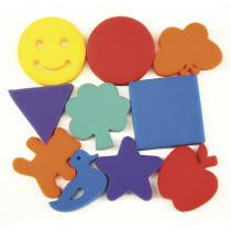 CK-9075 - Familiar Shapes Sponge Set 10 Pcs in Paint Accessories