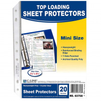 CLI03758 - Mini Size Top Loading Clear Poly Sheet Protectors in Sheet Protectors