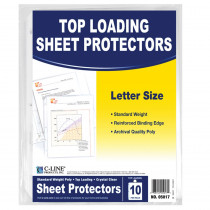 CLI05017 - C Line Crystal Clear 10Pk Standard Weight Sheet Protectors in Sheet Protectors