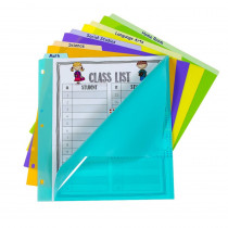 5-Tab Index Dividers with Vertical Tab, Bright Color Assortment, 8-1/2 x 11 - CLI07150 | C-Line Products Inc | Dividers