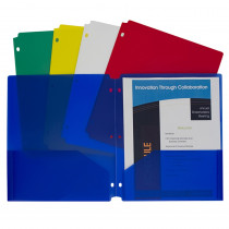 CLI32930 - 2 Pocket Poly Portfolios 10 Pk in Folders