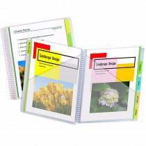 CLI33650 - C-Line 10 Pocket Portfolios With Write-On Tabs in Folders