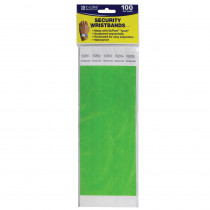 CLI89103 - C Line Dupont Tyvek Green Security Wristbands 100Pk in Accessories