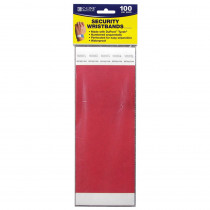 CLI89104 - C Line Dupont Tyvek Red Security Wristbands 100Pk in Accessories