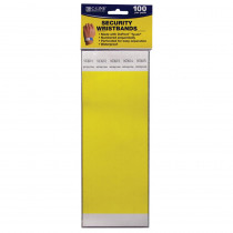 CLI89106 - C Line Dupont Tyvek Yellow Security Wristbands 100Pk in Accessories
