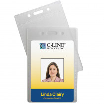 CLI89723 - C Line 12Pk Poly Vert Id Badge Holders in Accessories