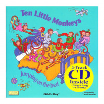 CPY9781904550679 - Ten Little Monkeys 8X8 Book With Cd in Books W/cd