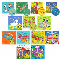 CPYSTPLCBWH13 - Songs And Rhymes Collection Set 1 - 13 8X8 Books With Cd in Book With Cassette/cd