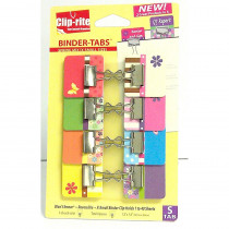 CRT052 - Binder Tabs 8Pk Spring Collection With X Small Clips in Clips