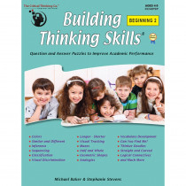 Building Thinking Skills, Beginning 2, Grade PreK - CTB05240 | Critical Thinking Co. | Resources