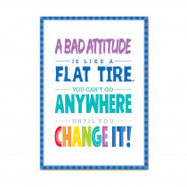 CTP0308 - A Bad Attitude Is  Inspire U Poster Paint in Motivational