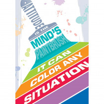 CTP0316 - Attitude Is The Minds Paintbrush Inspire U Poster in Motivational