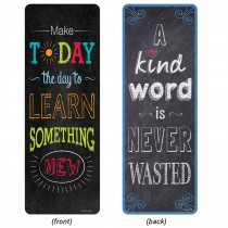 CTP0445 - Chalk It Up Quotes Bookmarks Motivational in Bookmarks