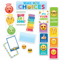 CTP0596 - Emoji Fun Behavior Chart Mini Bulletin Board Set in General