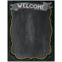 CTP1018 - Welcome Chart - Chalk in Classroom Theme