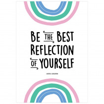 Be the best reflection of yourself Rainbow Doodles Inspire U Poster - CTP10434 | Creative Teaching Press | Motivational