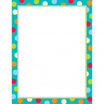 CTP1429 - Dots On Turquoise Computer Paper in Design Paper/computer Paper