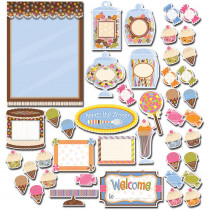 CTP1499 - Sweet Shoppe Bulletin Board Set Dots On Chocolate in Classroom Theme