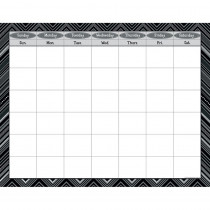 CTP1533 - Black And White Calendar Chart in Calendars