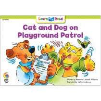 CTP15861 - Cat And Dog On Playground Patrol Learn To Read in Learn To Read Readers