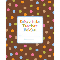 CTP1721 - Dots On Chocolate Substitude Teacher Folder in Substitute Teachers