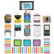 CTP2184 - Bold Bright Class Jobs Mini Bulletin Board Set in General