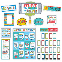 CTP2959 - Believe In Your Selfie Bulletin Bulletin Board Set in Inspirational