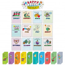 CTP3107 - So Much Pun Happy Birthday Bulletin Board Set in Holiday/seasonal