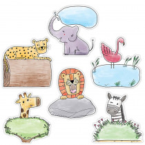 CTP3278 - 6In Safari Friends Designer Cutouts in General