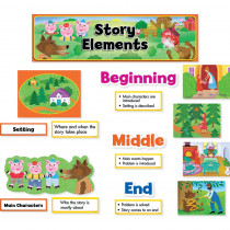 CTP3794 - Story Elements Mini Bulletin Board Set in Language Arts