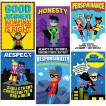 CTP5649 - Superhero Inspire U 6 Poster Pack in Classroom Theme