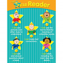 CTP6337 - 5 Star Reader Chart Gr K-2 in Language Arts