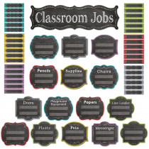 CTP6969 - Classroom Jobs Mini Bulletin Board Set - Chalk in Miscellaneous