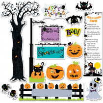 CTP6980 - Happy Halloween Mini Bulletin Board Set in Holiday/seasonal