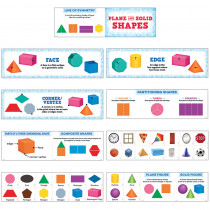 CTP6984 - Plane And Solid Shapes Mini Bulletin Board Set in Math