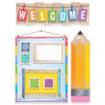CTP7054 - Welcome Bulletin Board Set Upcycle Style in Miscellaneous