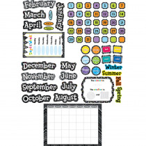 CTP7059 - Black And White Calendar Set Bulletin Board Set in Calendars
