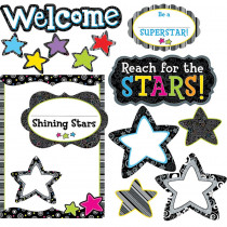 CTP7060 - Shining Stars Bulletin Board Set in Motivational