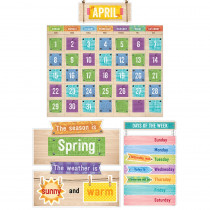 CTP7061 - Upcycle Style Calendar Bulletin Board Set in Calendars
