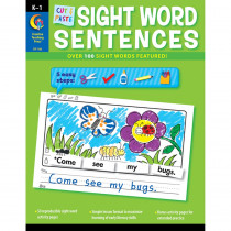CTP7180 - Cut & Paste Sight Words Sentences in Sight Words